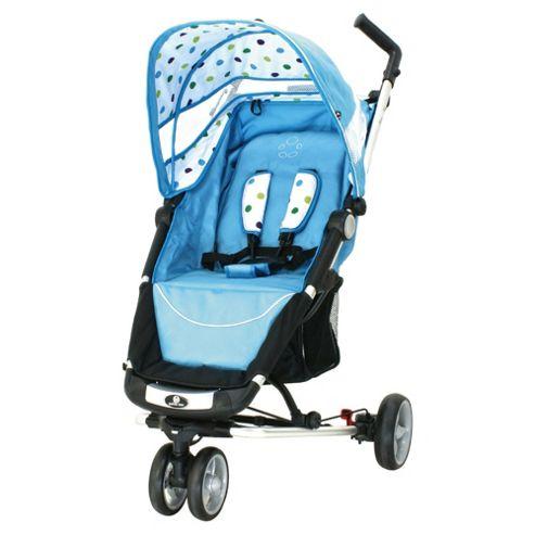 Petite Star Zia X 3 Wheeler Stroller Compact Fold, Sky Blue Spot