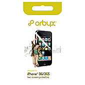 Orbyx Screen Protector Twin Pack iPhone 3GS