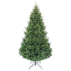 Festive 8ft Pre-lit Colorado Spruce Christmas Tree with warm white LED lights