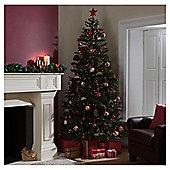 Festive 8ft Pre-lit Colorado Spruce Christmas Tree with warm white LED lights