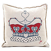 Jan Constantine Cream Felt Crown Cushion