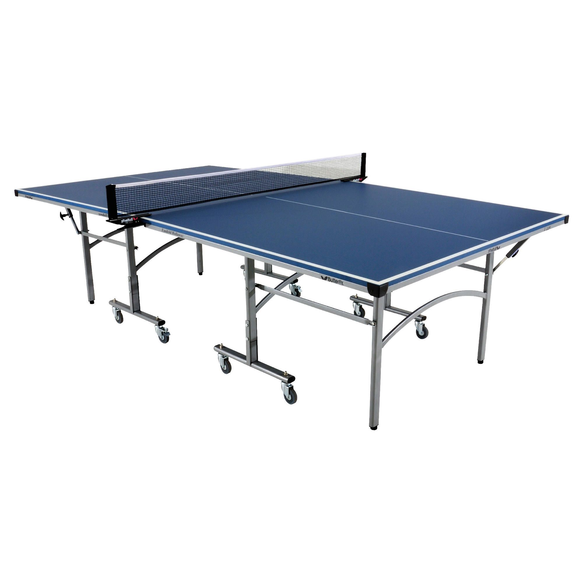 Butterfly Easifold Indoor Table Tennis Table - Blue at Tesco Direct