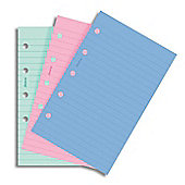 Filofax Fashion Colours Pocket Ruled Refill