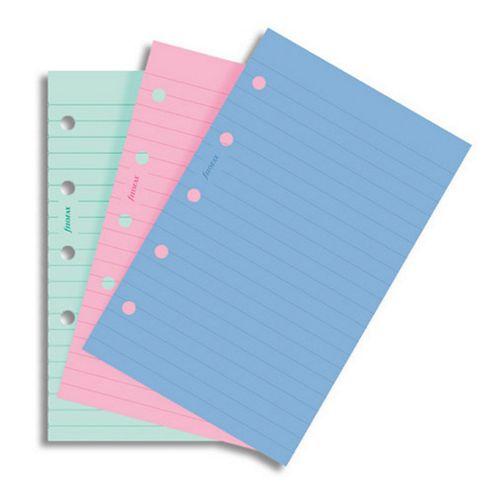 Filofax A6 Pocket Organiser Fashion Colours Ruled Notepaper Refill