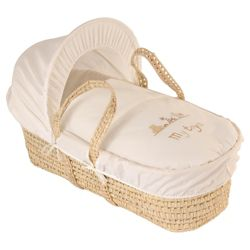 Clair de lune My Toys Moses Basket - Cream