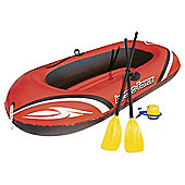"Bestway 77"" x 45"" Inflatable Boat Set inc Pump & Oars"