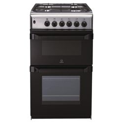 Indesit IT50G1X stainless steel gas twin cooker