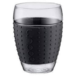 Bodum Pavina Set of 2 0.45L Glasses, Black.