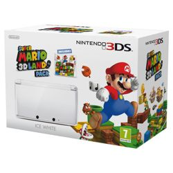Ice White 3DS + Super Mario 3D Land