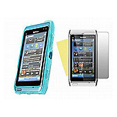 Blue Twin Pack ProGel Skin Case & LCD Screen Protector - Nokia N8
