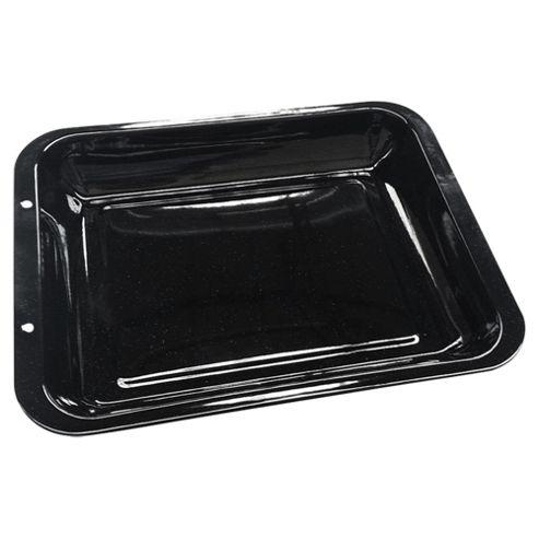 Tesco 38x30cm Vitreous Enamel Deep Roasting Pan