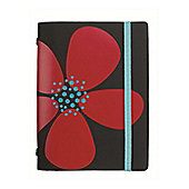 Filofax Pocket Domino A6 Organiser, Black Flower 2013