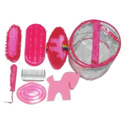 Tesco Horse Grooming Kit, Pink