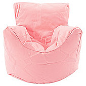 Kaikoo Kids Faux Leather Funzee Seat With Footstool, Pink