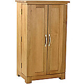 Kelburn Furniture Essentials CD/DVD Small Storage Cupboard in Light Oak Stain and Satin Lacquer