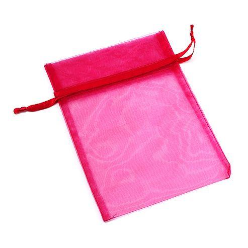 Organza Drawstring Pouch 15x20cm - Deep Pink