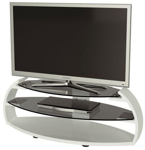 Alphason Designs Pebble PEB1100/3-WH White Oval TV Stand