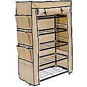 Homcom 5 Tier Shoe Rack Cabinet Closet Storage Standing Shelf