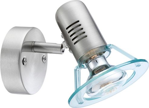Home Essence Butler 1 Light Wall Spotlight in Silver