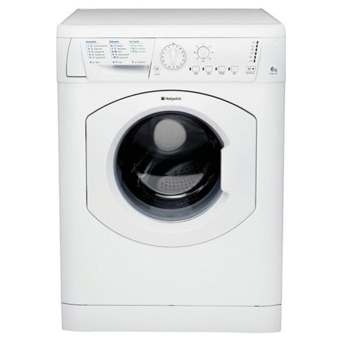 Hotpoint HV6L105P Washing Machine, 6kg Wash Load, 1000 RPM Spin, A Energy Rating. White