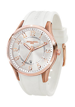 Jorg Gray Women' s Watch JG1200-12 Rubber Strap White Dial