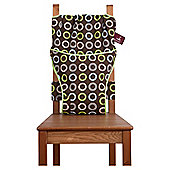 Totseat Chair Harness Highchair, Choc Circles
