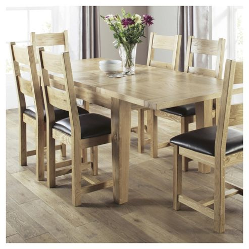 Buy Java 6 Seat Dining Table Set With Chairs Solid Wood From Our Dining Tabl