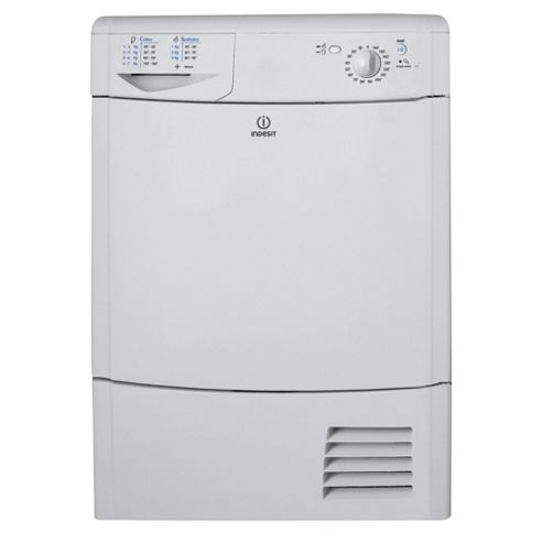 Indesit IDC85 Condenser Tumble Dryer, 8Kg Load, C Energy Rating,White,