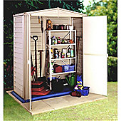 5ft x 5ft Plastic PVC Shed With Steel Frame (1.73m x 1.78m) + Floor
