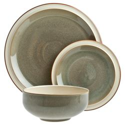 Denby Fire 12 Piece 4 Person Dinner Set - Green
