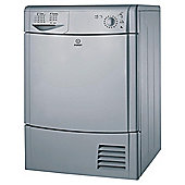 Indesit IDC85S Condenser Tumble Dryer, 8kg Load, C Energy Rating. Silver