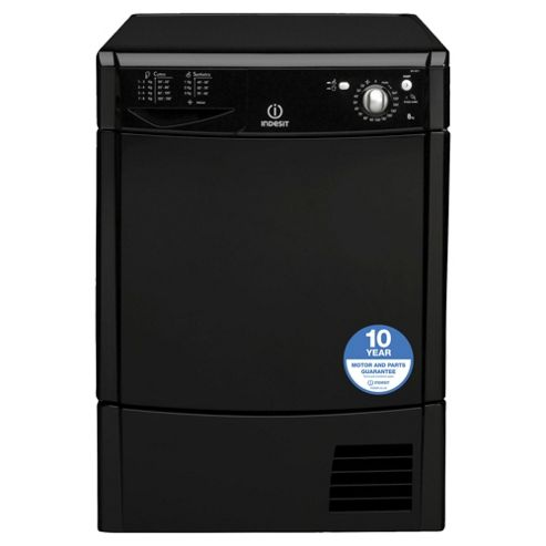 Indesit IDC85K Freestanding Condenser Tumble Dryer, 8Kg Load, C Energy Rating, Black