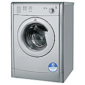 Indesit IDV75S Freestanding Vented Tumble Dryer, 7Kg Load, C Energy Rating, Silver