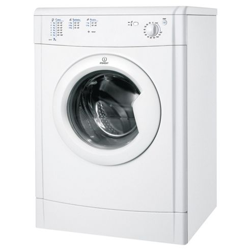 Indesit Ecotime Vented Tumble Dryer, IDV75, 7KG Load, White