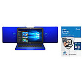 Dell Inspiron 11-3162, 11.6-inch Laptop, Celeron 2GB RAM, 32GB, Blue, with McAfee Internet Security 2016 Unlimited Devices - bundle