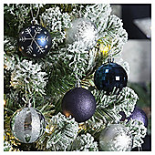 Christmas Baubles, Silver, 20 pack