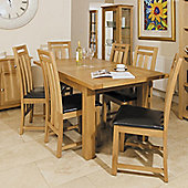 Kelburn Furniture Washington 7 Piece Oak Dining Collection