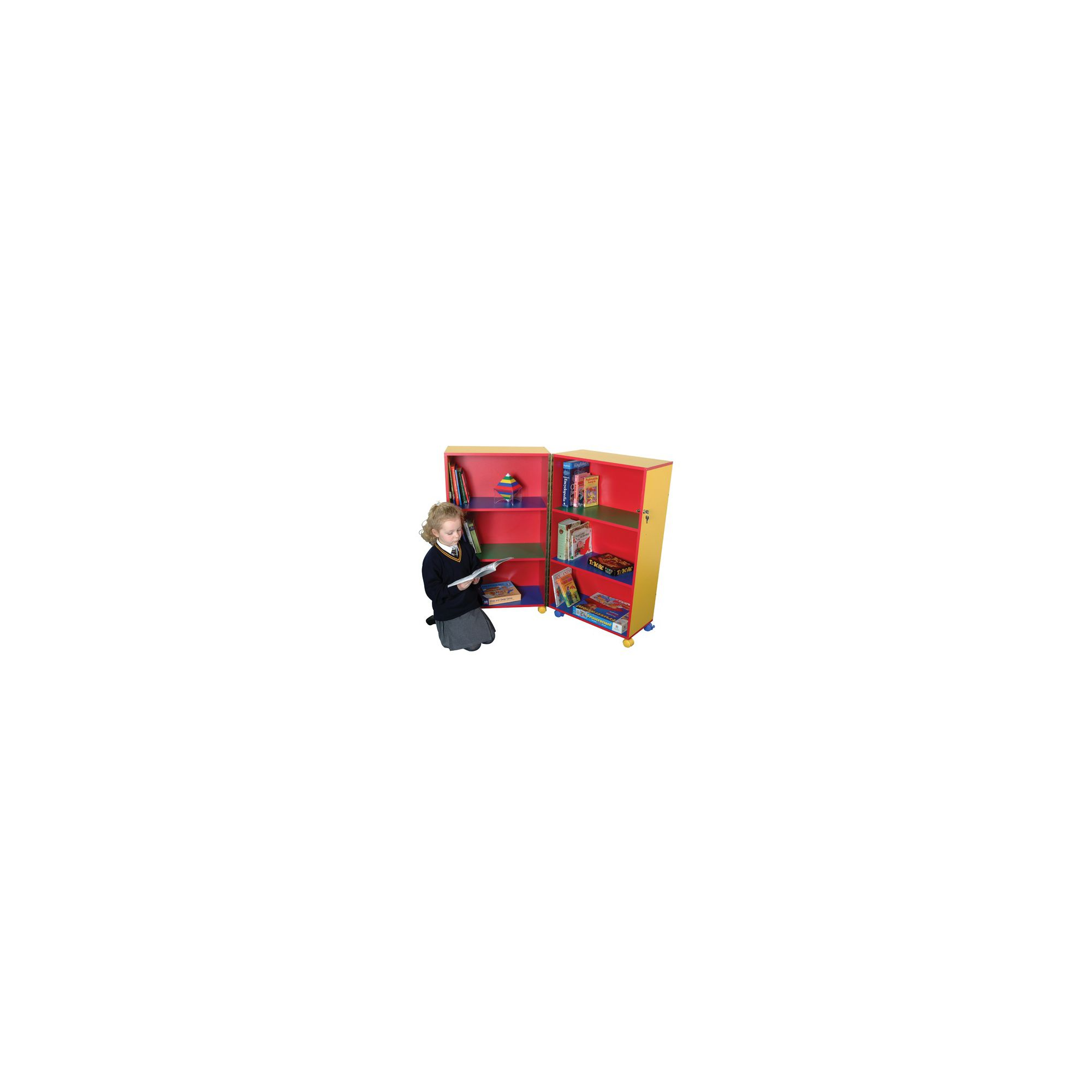 Liberty House Toys Primary Coloured Mobile Fold Away Bookcase at Tesco Direct