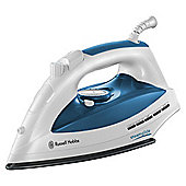 Russell Hobbs 18743 Scratch Resistant Ceramic Plate Steam Iron - White & Blue