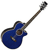 Tanglewood Evolution Super Folk Cutaway Electro - Blue