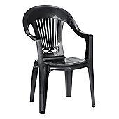 SCAB Splendida Scratchproof High Back Armchair - Anthracite Grey