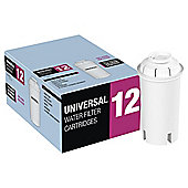 Aqua Optima Universal Water Filter Cartridges, 12-Pack