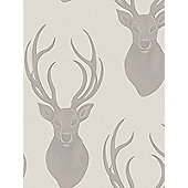 Rasch Stags Wallpaper Taupe 273700