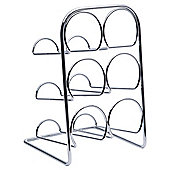 Hahn 6 Bottle Wine rack, Chrome