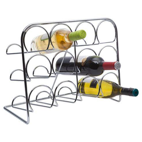 Hahn 12 Bottle Wine Rack, Chrome