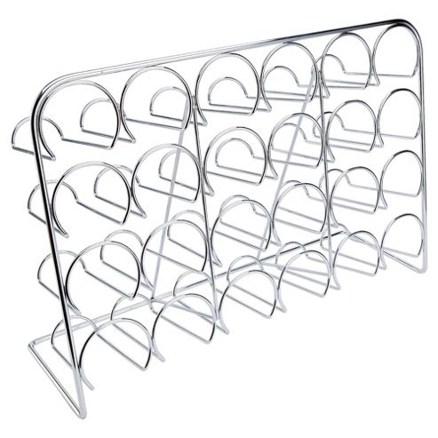 Hahn 24 Bottle Wine Rack, Chrome