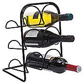 Hahn 6 Bottle Wine Rack, Black