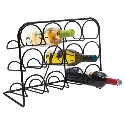 Hahn 12 Bottle Wine Rack, Black