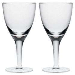 China by Denby Set of 2 White Wine Glasses
