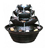 3 Tier Multi Fall Indoor Lit Water Feature
